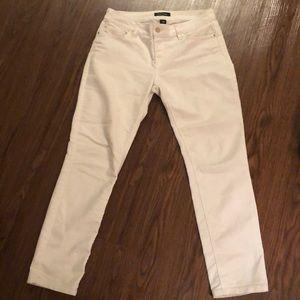 White &  Black Jeans Slim Ankle